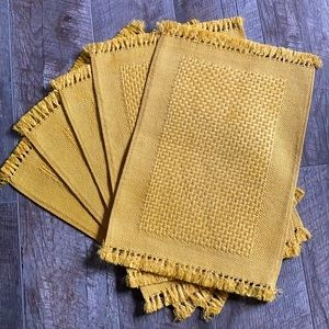 Vintage 1970's Weaved Placemats